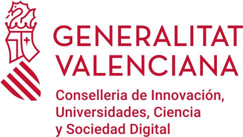 Logotipo Generalitat Conselleria de Innovación, Universidades, Ciencia y Sociedad Digital