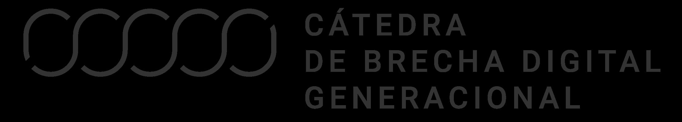 Logotipo Cátedra Brecha Digital Generacional del encabezado