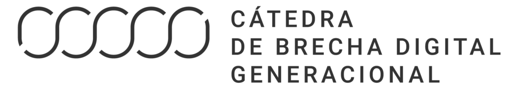 Logotivo Cátedra Brecha Digital Generacional en castellano